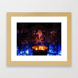 Candlelit Santa Framed Art Print