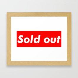 Supreme Sold Out Framed Art Print