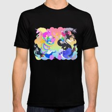 Adventure Time SMALL Mens Fitted Tee Black