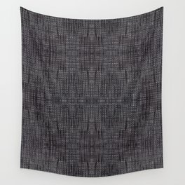 Black fibrous cloth texture abstract Wall Tapestry