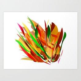 autumn abstract digital painting Art Print