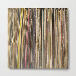 Records Metal Print