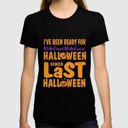 Halloween Pumpkin Ready funny costume gifts T-shirt
