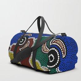 Authentic Aboriginal Art - Riverside Dreaming Duffle Bag