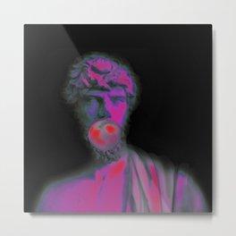 statue in pink Metal Print