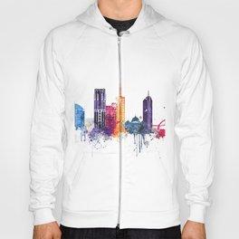 Melbourne city watercolor Hoody