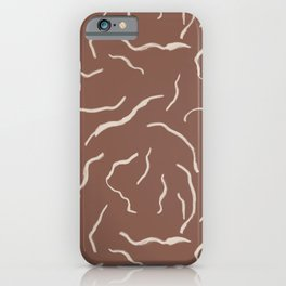 Line Drawing Pattern Terracotta iPhone Case