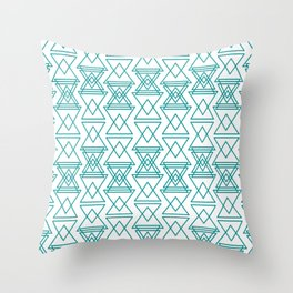 RIGHT AND WRONG I: EASY BLUE Throw Pillow
