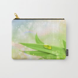 pastel colors with green grass and dew Carry-All Pouch