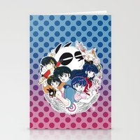 inuyasha Stationery Cards featuring Ranma 1/2 by Neo Crystal Tokyo