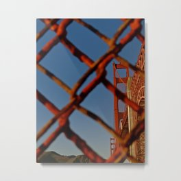 Security Comes First - Golden Gate Bridge Metal Print