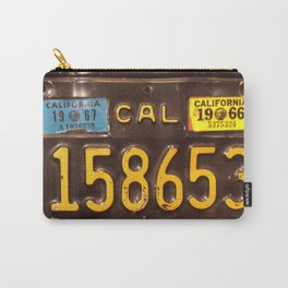 Motorcycle license plate Carry-All Pouch