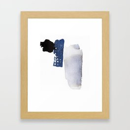 Navy Blue Abstract Framed Art Print