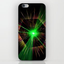 light show iPhone Skin