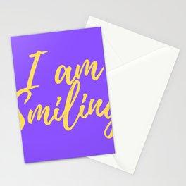 I am Smiling Facial Mask Stationery Cards