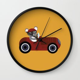 Koala Racer Wall Clock