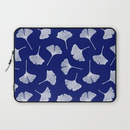 Ginkgo Biloba | Blue Background Laptop Sleeve