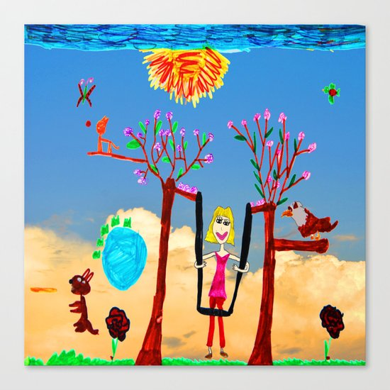 Dreaming | Playground | Up to the Clouds Canvas Print