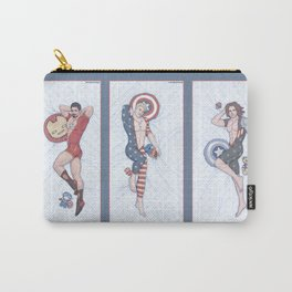 Superhero Pinup Trio (Stark Spangled Winter) Carry-All Pouch