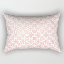 DIAMOND WATERCOLOR CORAL BLUSH Rectangular Pillow