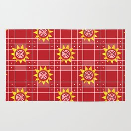 Red Hot Sunny Days Rug