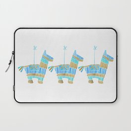 Mexican Donkey Piñata – Blue & Gold Palette Laptop Sleeve
