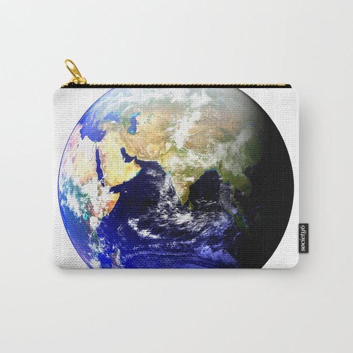 Earth Globe East Shadow Carry-All Pouch