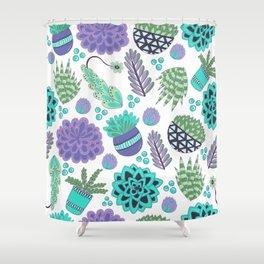 Succulents Pattern Shower Curtain