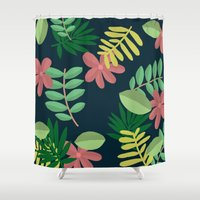 plants Shower Curtains featuring plants by Strange Creatures