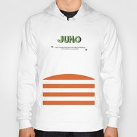 movie poster Hoodies featuring Juno - Alternative Movie Poster by Stefanoreves