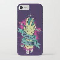 work hard iPhone & iPod Cases featuring Work Hard by Akiwa
