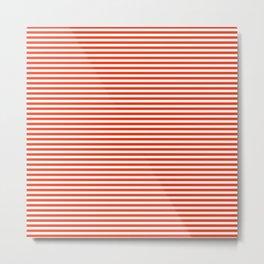 TINY STRIPE ((cherry red)) Metal Print