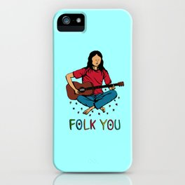 Folk You Guitar Hippie iPhone Case