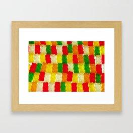 Colorful gummi bears Framed Art Print