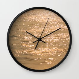 gold sea Wall Clock