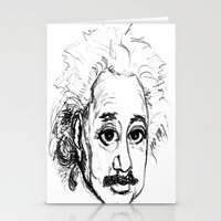 chibi Stationery Cards featuring Chibi Einstein by Hazel Bellhop