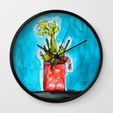 Sunday Funday Bloody Mary Mania Wall Clock