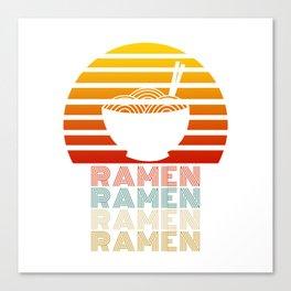 Ramen Life Japanese Noodles Vintage Retro Style Gift Canvas Print