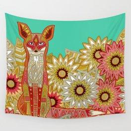 garden fox Wall Tapestry