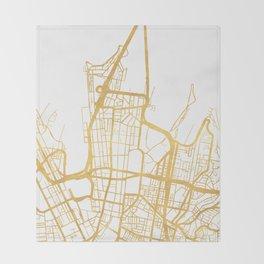 SYDNEY AUSTRALIA CITY STREET MAP ART Throw Blanket