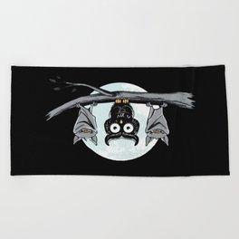 Cute Owl With Friends Beach Towel