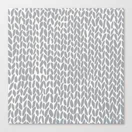 Hand Knit Zoom Grey Canvas Print