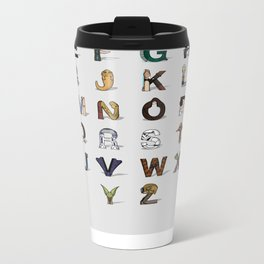 Star W. alphabet Metal Travel Mug