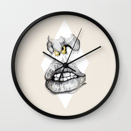 TELL ME TO SMILE II Wall Clock