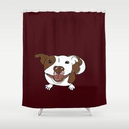 Celia Mae The Pit Bull Shower Curtain