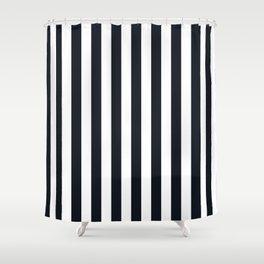 Vertical Stripes Black & White Shower Curtain
