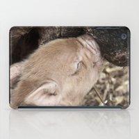 piglet iPad Cases featuring Piglet by Rachel's Pet Portraits