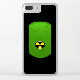 atomic waste barrel Clear iPhone Case