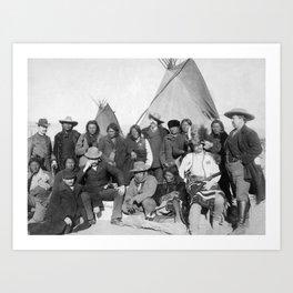Native American Chiefs Meeting With Buffalo Bill - 1891 Art Print