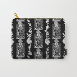 The Hierophant - A Tarot Floral Pattern Carry-All Pouch